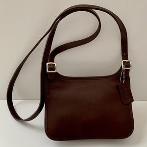 Vintage Coach Flap Brown Glove Tanned Leather Bag